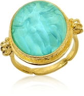 Tagliamonte Three Graces - 18K Gold Turquoise Mother of Pearl Cameo Ring