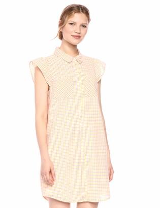 BCBGeneration Women's Seersucker Check Shirt Dress