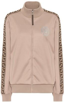 Fendi FF jersey track jacket
