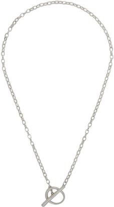 FARIS Silver Anka Lariat Necklace
