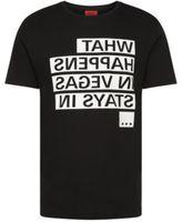 Hugo Boss Devent Cotton Graphic T-Shirt L Black