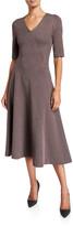 Rosetta Getty Plaid Double Knit Jersey Dress