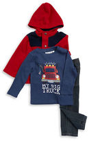 Kids Headquarters Boys 2-7 Fleece Jacket, Thermal Tee and Jeans Set