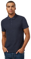 Red Herring Big And Tall Navy Ribbed Polo Shirt