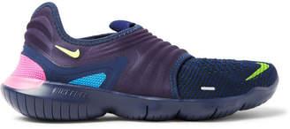 Nike Running Free Rn 3.0 Flyknit And Neoprene Slip-On Sneakers