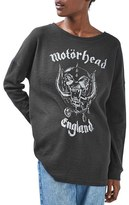Topshop Women's By And Finally Motorhead Sweatshirt