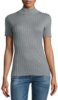 Rag & Bone Short-Sleeve Funnel-Neck Top