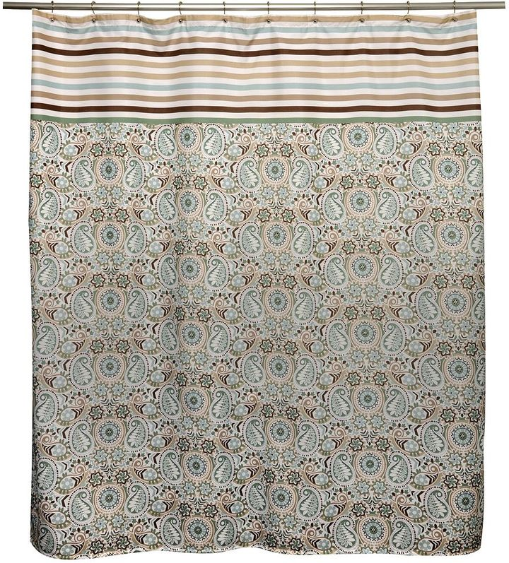 Waverly paisley prism latte fabric shower curtain