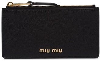 Miu Miu Madras zipped purse