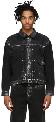Tanaka SSENSE Exclusive Black and Silver Denim Classic Jacket