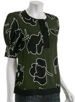 Diane Von Furstenberg forest rose crepe 'Trice' blouse