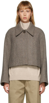 AMOMENTO Brown Wide Crop Jacket