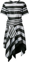 Proenza Schouler asymmetric stripe dress - women - Silk/Cotton/Viscose - 4
