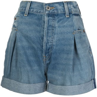 RE/DONE Upturned Hem Shorts