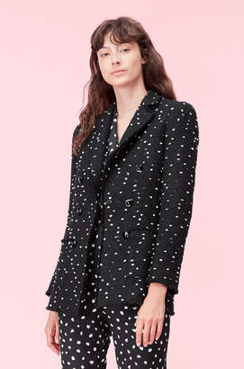 Rebecca Taylor Boucle Dot Tweed Blazer