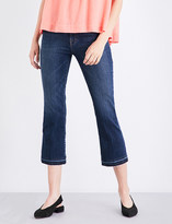 J Brand Selena released-hem cropped mid-rise jeans