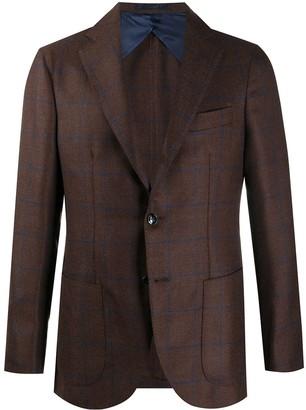 Barba Long-Sleeved Button Up Blazer