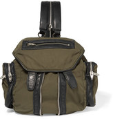 Alexander Wang Marti Mini Leather-trimmed Canvas Backpack - Green