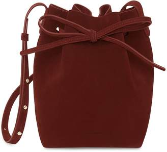 Mansur Gavriel Mini Bucket Bag - Burgundy