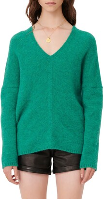 Maje V-Neck Sweater