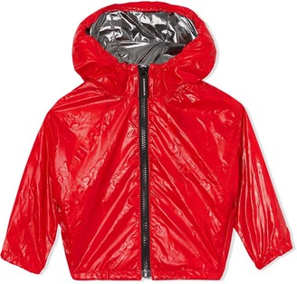 BURBERRY KIDS Logo Zipped Hooded Jacket