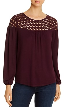 Daniel Rainn Lace-Yoke Top