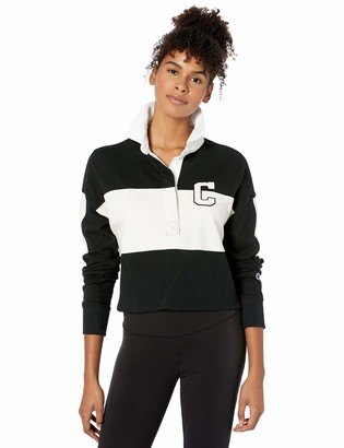 Champion Life Women's Rugby Cropped Collared TEE