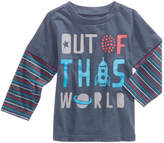 First Impressions Layered-Look Graphic-Print Cotton T-Shirt, Baby Boys, Created for Macy's