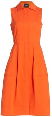 Akris Sleeveless A-Line Shirtdress