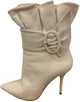 Aquazzura White Leather Ankle boots