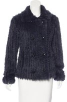 Marc by Marc Jacobs Wool & Rabbit Fur-Blend Collared Jacket