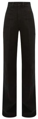 Lemaire High-rise Wide-leg Jeans - Black