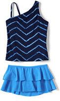 Classic Girls Plus Size Tankini Swimsuit Set-Strawberry Stripe