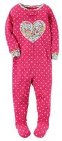 Carter's Floral Heart and Dots Zip-Front Footie