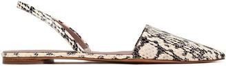 Diane von Furstenberg Koko 5 Elaphe Slingback Point-toe Flats