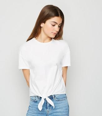 New Look Girls Tie Front T-Shirt
