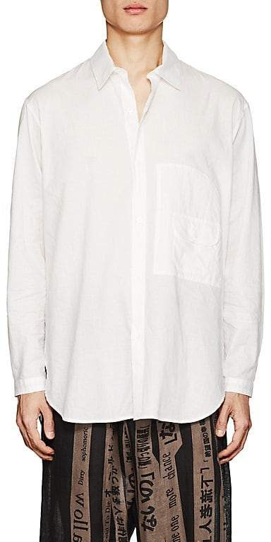 Yohji Yamamoto Men's Pocket-Detailed Cotton Poplin Shirt