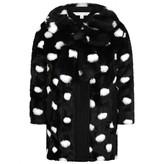 Little Marc Jacobs Little Marc JacobsGirls Black Faux Fur Spotted Coat