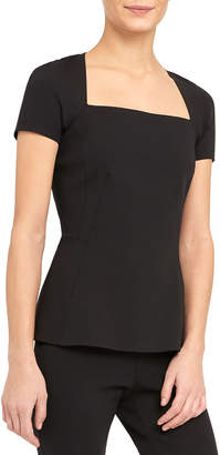 Theory Sculpted Square-Neck Top