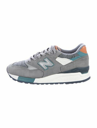 New Balance Suede Round-Toe Sneakers w/ Tags Grey