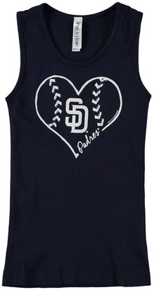 Unbranded Girls Youth Soft as a Grape Navy San Diego Padres Cotton Tank Top