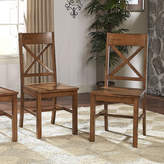 Asstd National Brand 2-pc. Antique Brown Wood Dining Kitchen Chairs