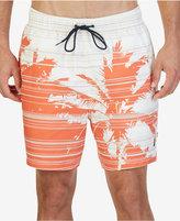"Nautica Men's Quick Dry Palm Print 7 1/2"" Swim Trunks"