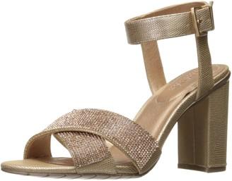 Kenneth Cole Reaction Women's Crash Glitzy Dress Sandal X-Band Strap with Mini Jewels On High Heel