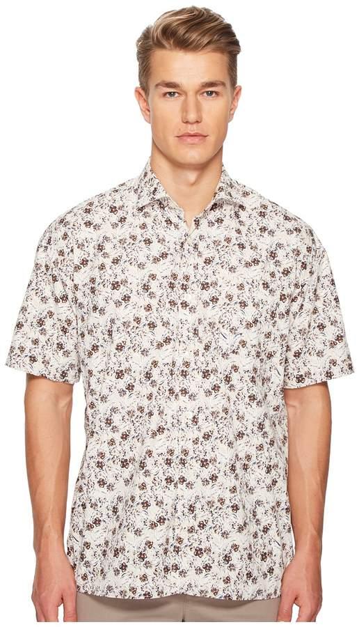 Eleventy Oversized Flower Print Shirt