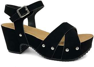 Bamboo Women's Sandals BLACK - Black Stud-Accent Course Sandal - Women