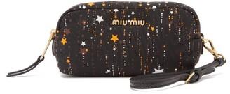 Miu Miu Star-print Nylon Wash Bag - Black Multi