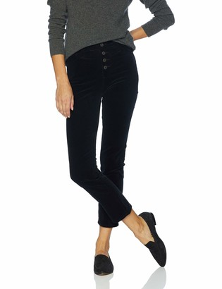 AG Jeans Women's Corduroy Isabelle HIGH-Rise Straight Crop Button UP
