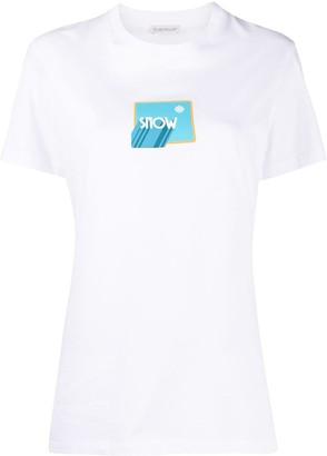 Moncler snow box logo print T-shirt