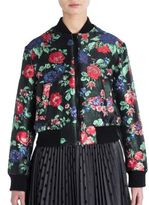 MSGM Floral-Print Bomber Jacket